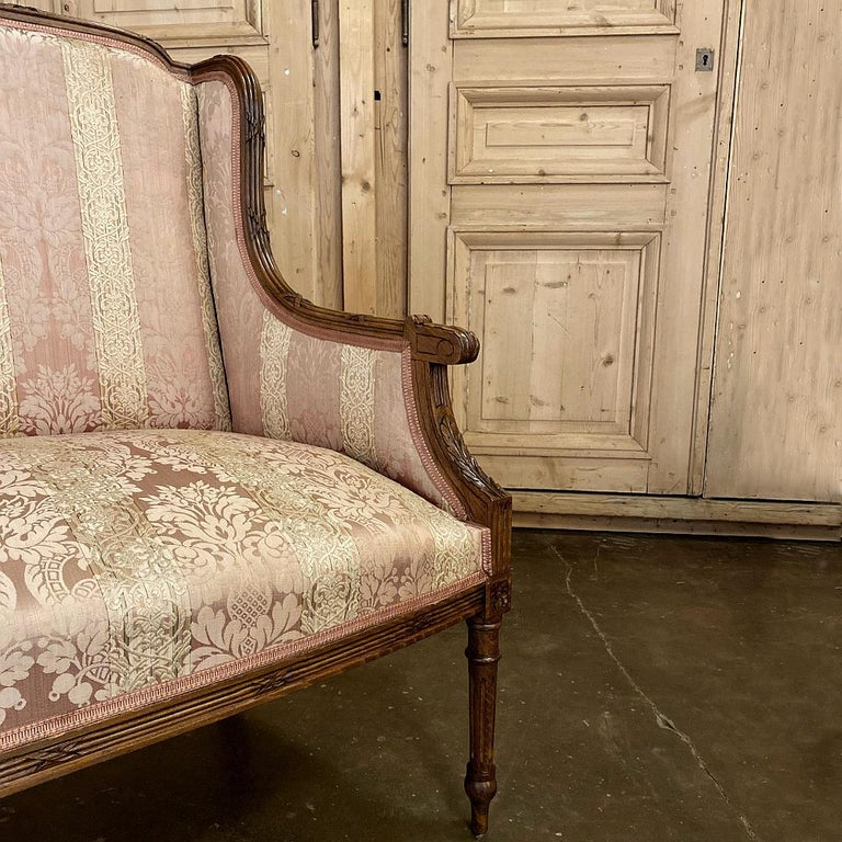 Antique French Walnut Louis XVI Canape, Sofa For Sale 8