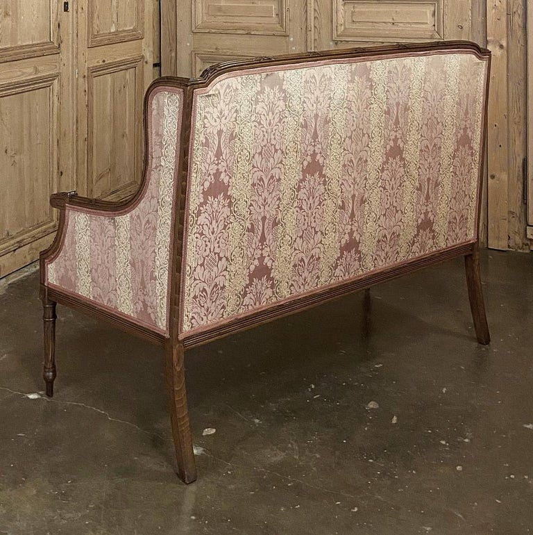 Antique French Walnut Louis XVI Canape, Sofa For Sale 1