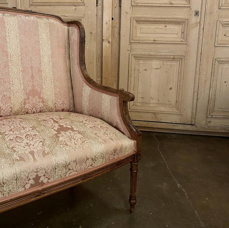 Antique French Walnut Louis XVI Canape, Sofa For Sale 2