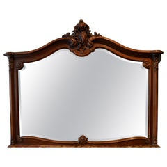 Antique French Walnut Mirror