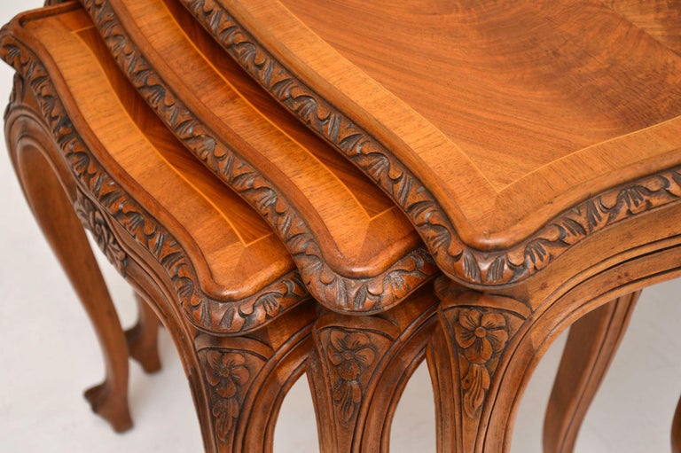 Antique French Walnut Nest of Tables For Sale 1