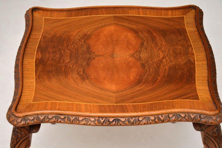 Antique French Walnut Nest of Tables For Sale 2