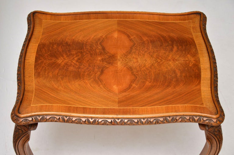 Antique French Walnut Nest of Tables For Sale 3