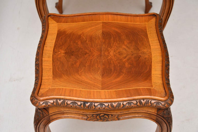 Antique French Walnut Nest of Tables For Sale 4