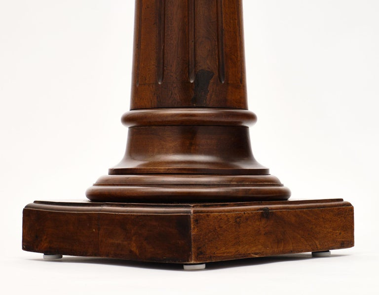 Antique French Walnut Pedestal For Sale 4