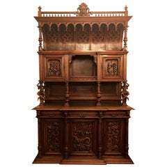 Antique French Walnut Renaissance Style Vaisselier