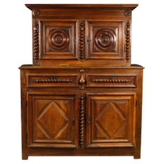 Antique French Walnut Sideboard from the 18th Century