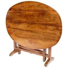 Antique French Walnut Tilt Top Breakfast Table
