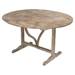 Antique French Wine Tasting Table in Its Original Finish