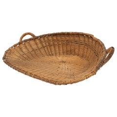 Antique French Winnowing Basket