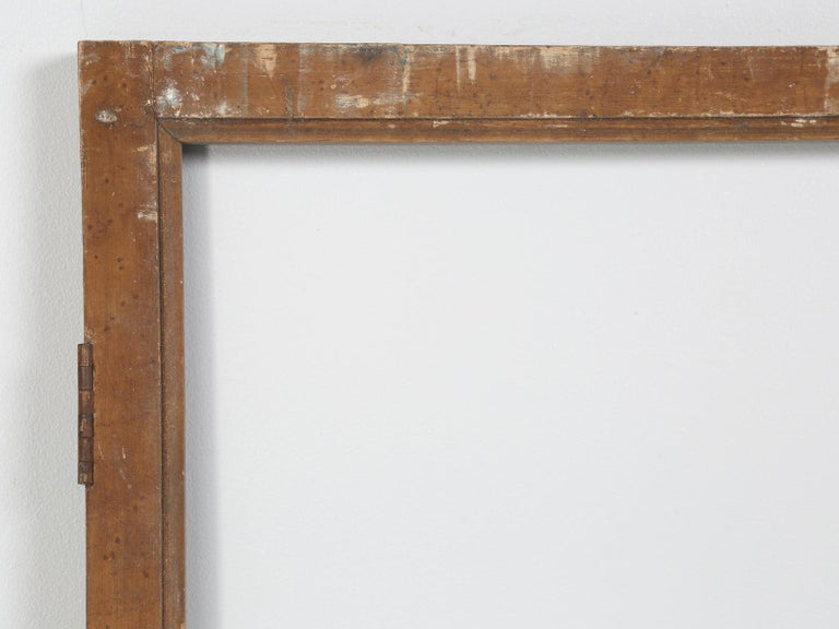 We have several pair of these old French windows or cabinet doors, which could be utilized in a number of ways. What is exceptionally nice, is that no one has refinished the wood, nor doctored them up for sale. These are completely untouched antique