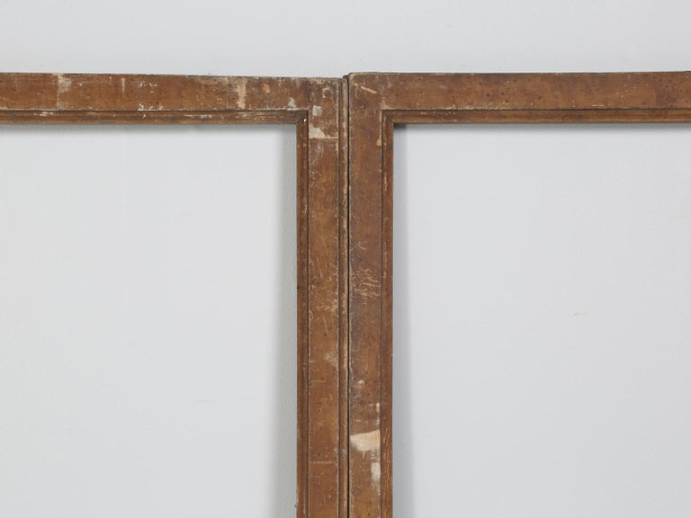 Country Antique French Wood and Glass Doors For Sale
