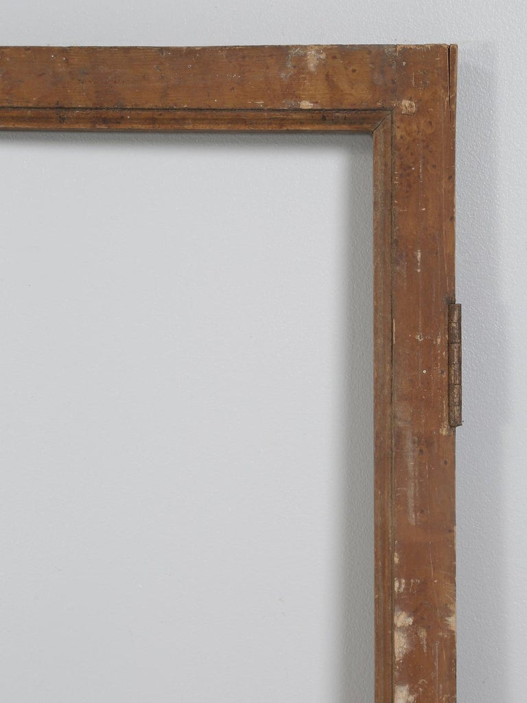 Hand-Crafted Antique French Wood and Glass Doors For Sale