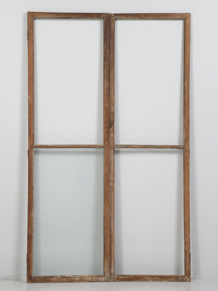 Antique French Wood and Glass Doors For Sale 3