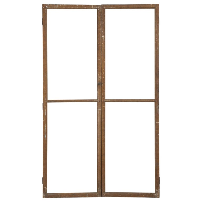 Antique French Wood and Glass Doors For Sale