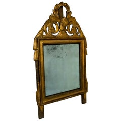 Antique French Wood Gilt Mirror, circa 1780