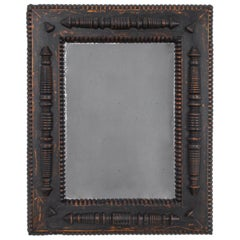 Antique French Wooden Mirror