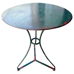 Antique French Wrought Iron Bistro Table