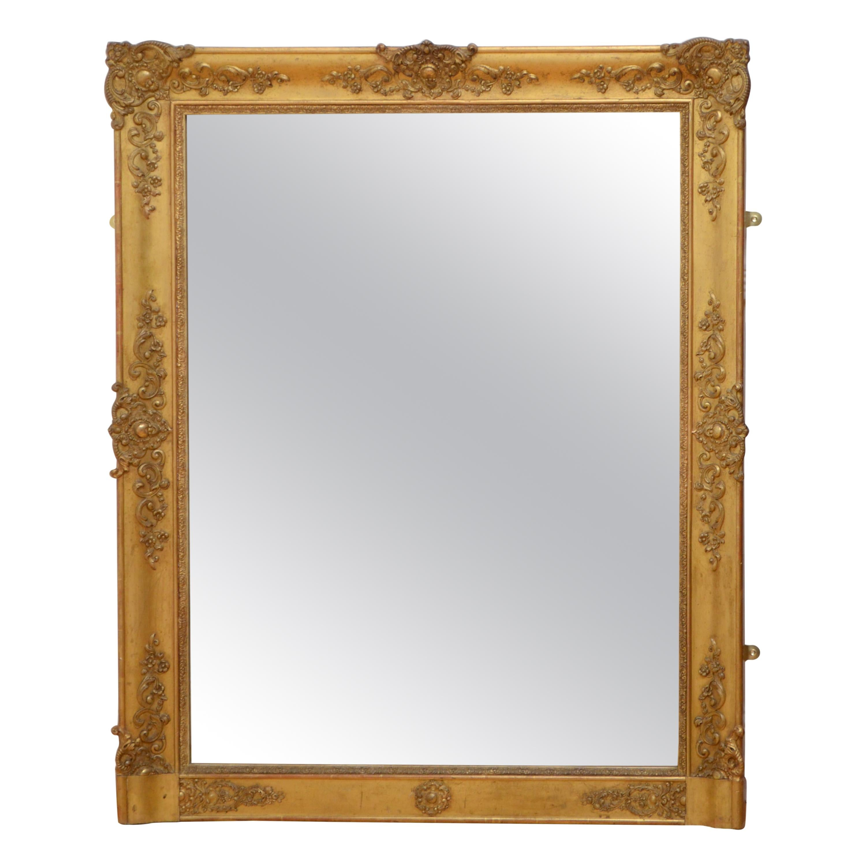 Antique French 19th Century Mirror