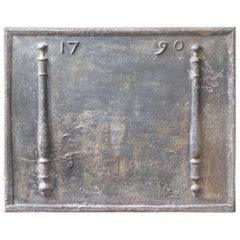 Antique French 'Year' Fireback, 18th Century