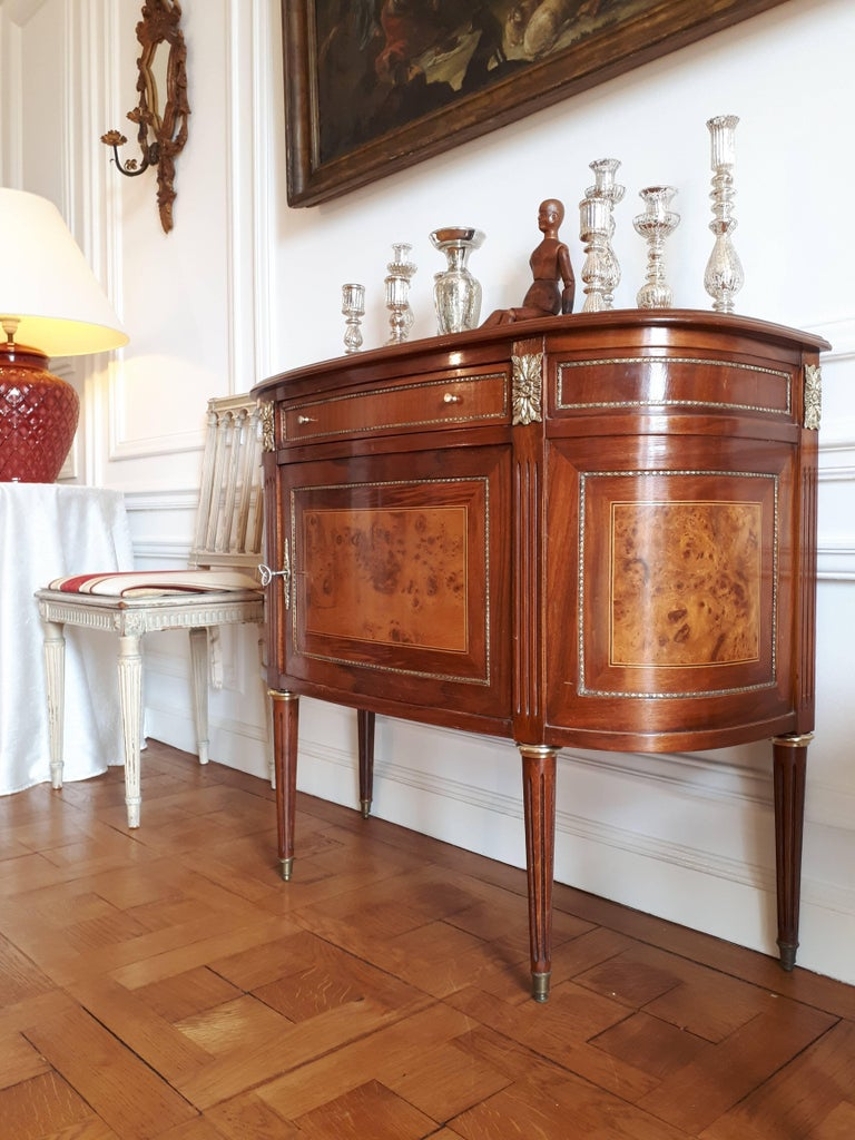Antique French, Louis XVI Style Chest of Drawers Commode Buffet Marquetry For Sale 5