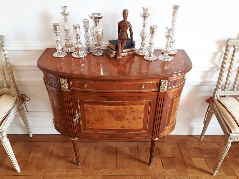 Antique French, Louis XVI Style Chest of Drawers Commode Buffet Marquetry For Sale 7