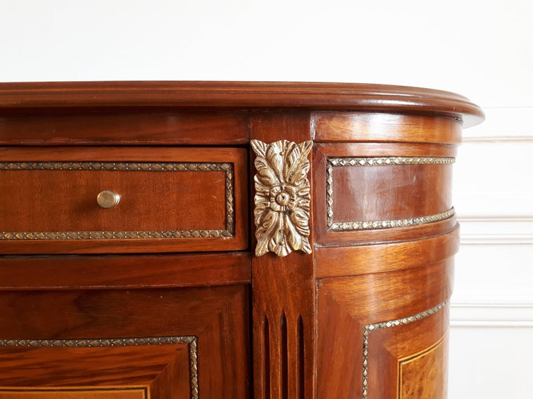 20th Century Antique French, Louis XVI Style Chest of Drawers Commode Buffet Marquetry For Sale