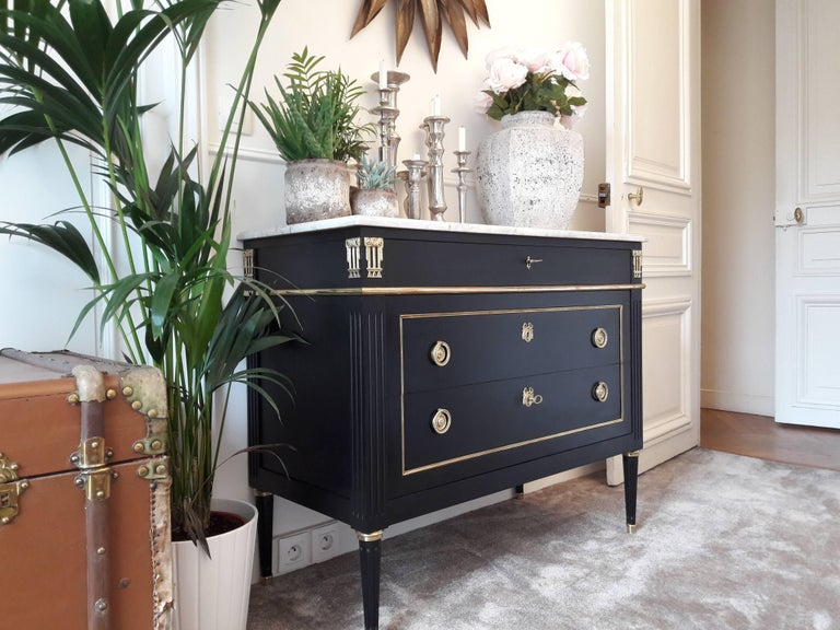 Antique French, Louis XVI Style Chest of Drawers Commode 3