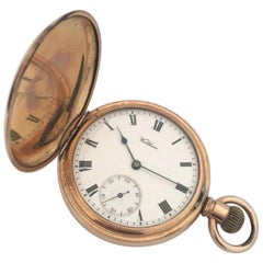 Antique Full Hunter Royal A.W.W. Co. Waltham, Mass Gold Plated Pocket Watch