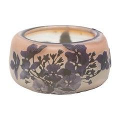 Antique Gallé Signed Multi-Color Acid Cut Back Cameo Glass Bowl, circa 1900