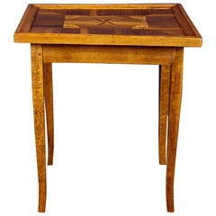 Antique Game Table with Marquetry Works