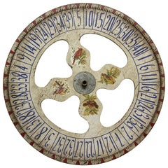 Antique Game Wheel with Birds