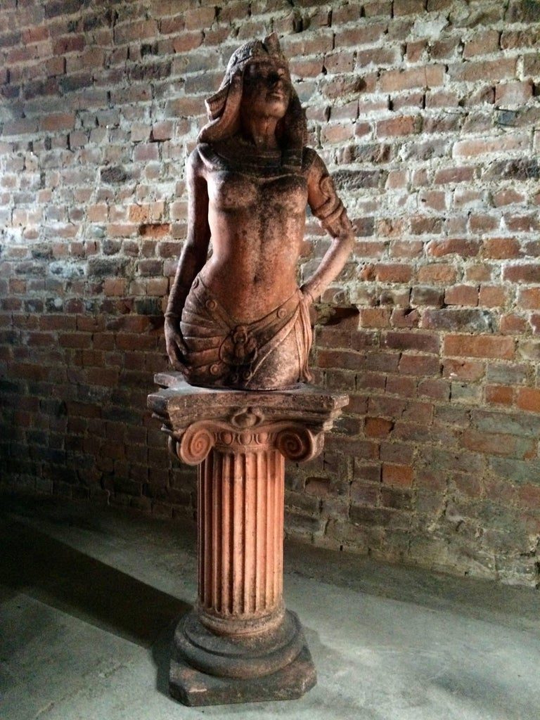 Antique Egyptian nude woman bronze sculpture # D11260 | eBay