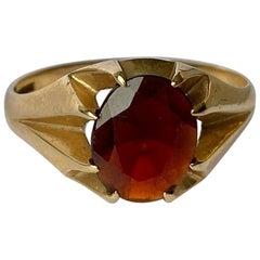 Antique Garnet and 9 Carat Gold Signet Ring