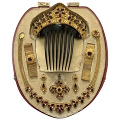 Antique Garnet Gold Parure
