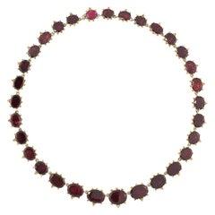 Antique Garnet Rivière Necklace