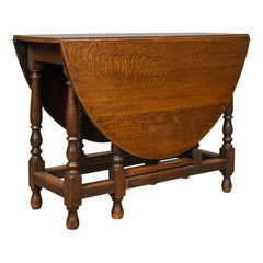 Antique Gate Leg Table, Edwardian, English, Oak, Country Kitchen, circa 1910
