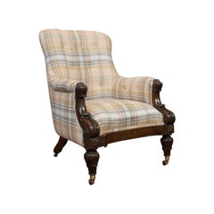 Antique Gentleman's Armchair, Rosewood, Fireside, Club Chair, William IV