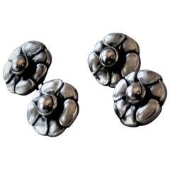 Antique Georg Jensen 830 Silver Cufflinks No.3