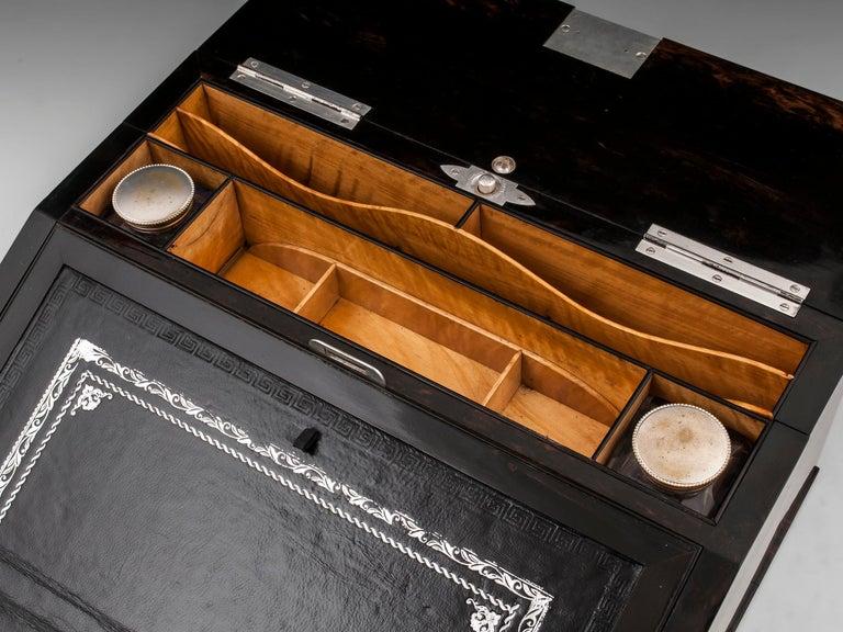 Antique George Betjemann Coromandel Satinwood Silver Writing Box, 19th Century For Sale 4