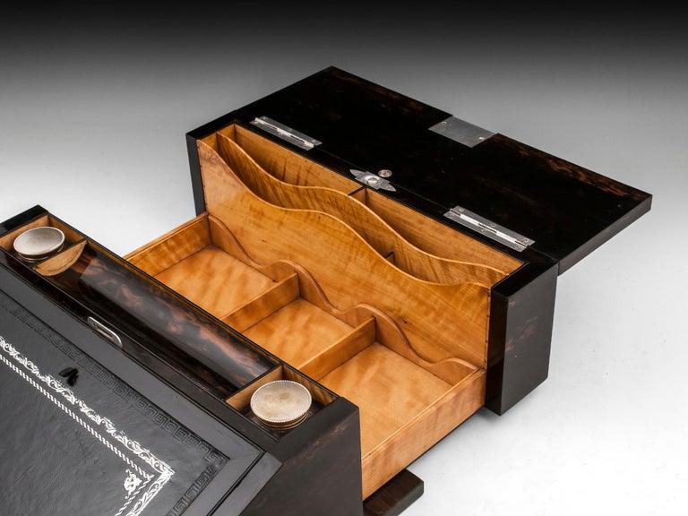 Antique George Betjemann Coromandel Satinwood Silver Writing Box, 19th Century For Sale 6