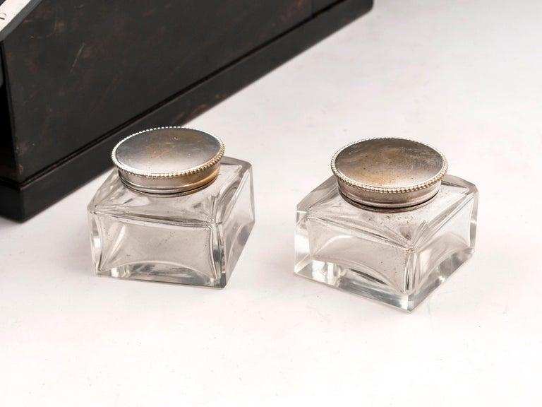 Antique George Betjemann Coromandel Satinwood Silver Writing Box, 19th Century For Sale 3