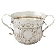 Antique George I Britannia Standard Silver Porringer