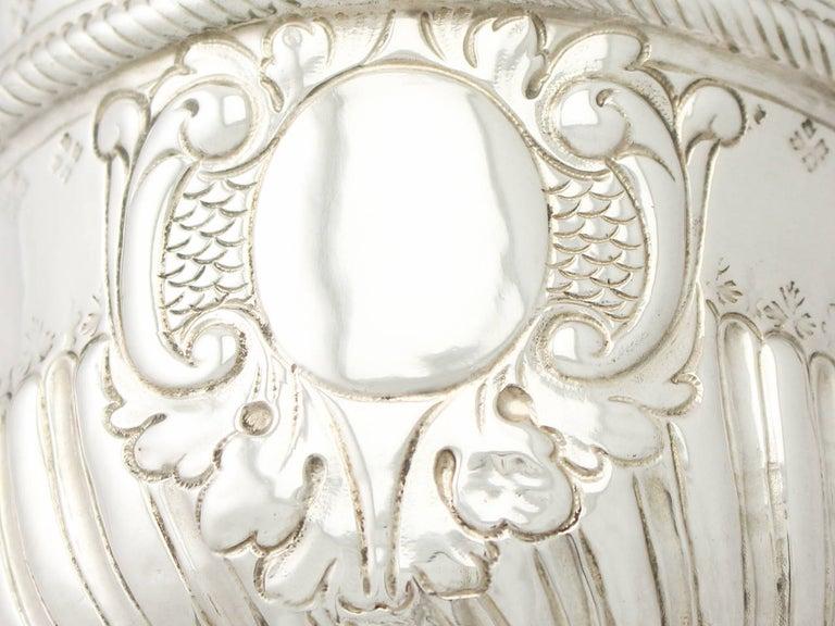 Sterling Silver Antique George I 1717 Britannia Standard Silver Porringer For Sale