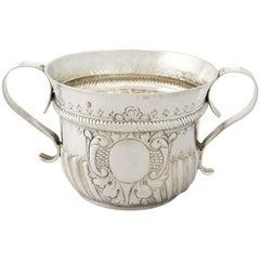 Antique George I 1717 Britannia Standard Silver Porringer