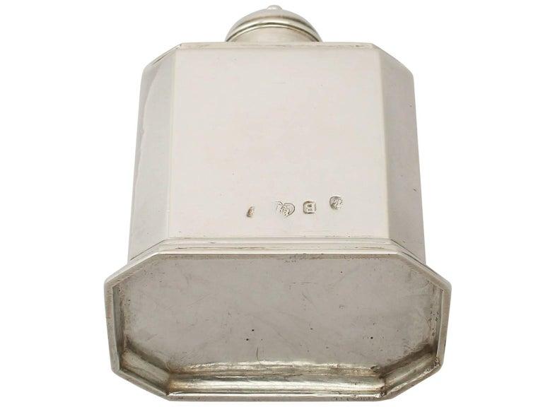 Antique George I Britannia Standard Silver Tea Caddy For Sale 5