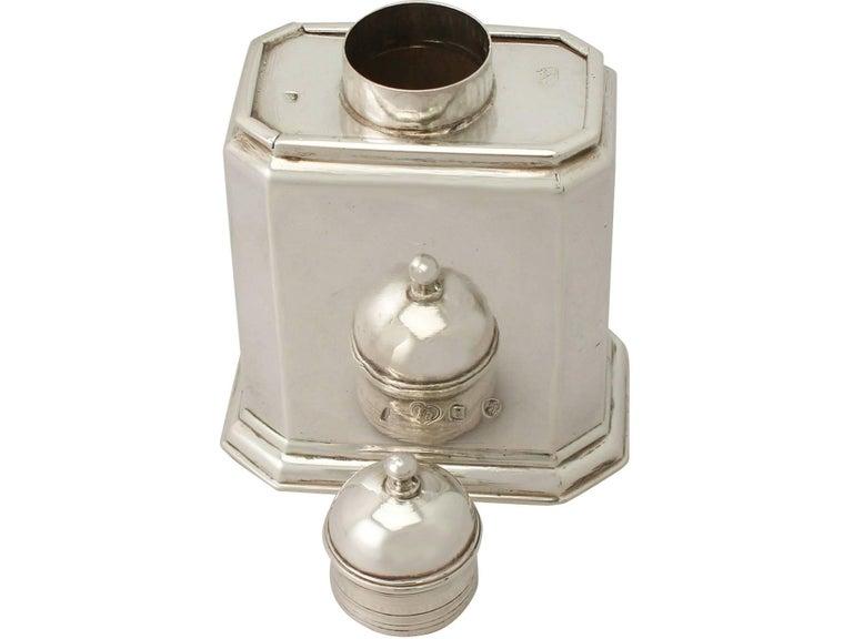 Early 18th Century Antique George I Britannia Standard Silver Tea Caddy For Sale