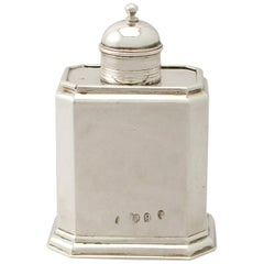 Antique George I Britannia Standard Silver Tea Caddy