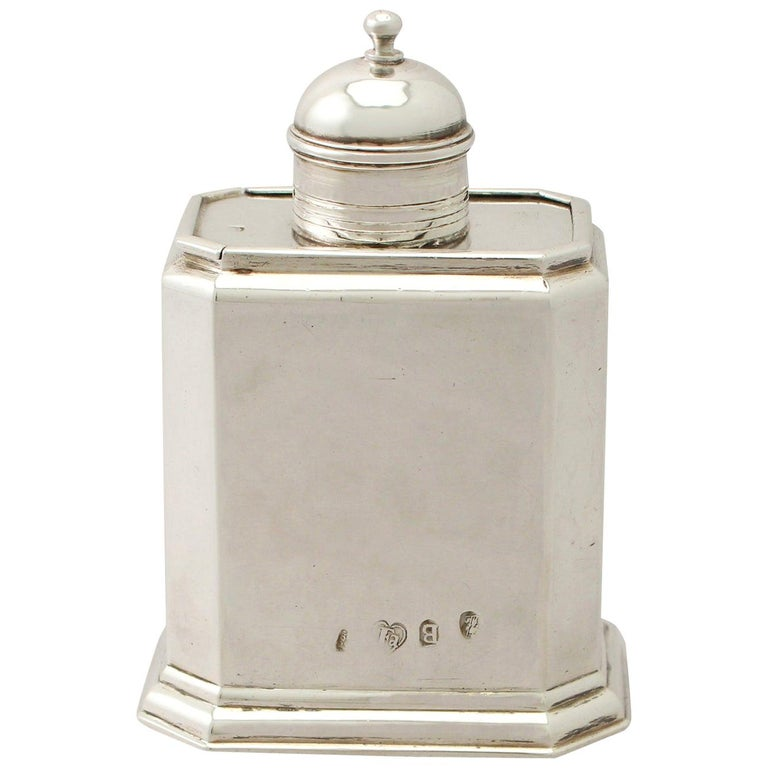 Antique George I Britannia Standard Silver Tea Caddy For Sale