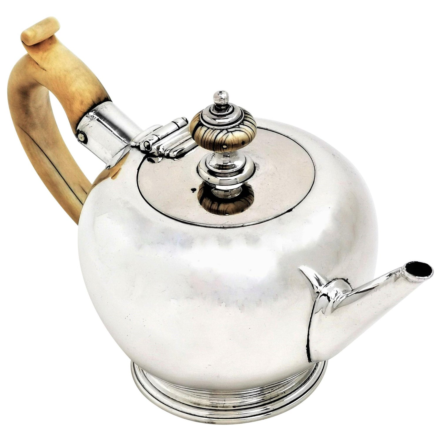 Antique George I Sterling Silver Bachelor Teapot, Early Georgian 18th Century